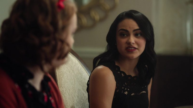 """Black Top Worn by Camila Mendes in """"Riverdale"""" - TV Show Outfits and Products"""