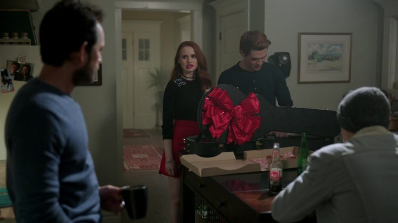 "Black Top and Red Bottom Worn by Madelaine Petsch in ""Riverdale"" TV Show"