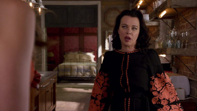 "Long Sleeve Floral Dress Worn by Debi Mazar in ""Younger"" TV Show"