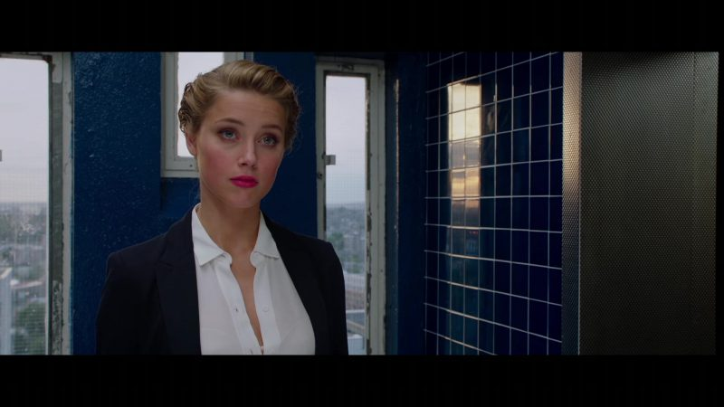 """Blazer and White Blouse Worn by Amber Heard in """"London Fields"""" - Movie Outfits and Products"""