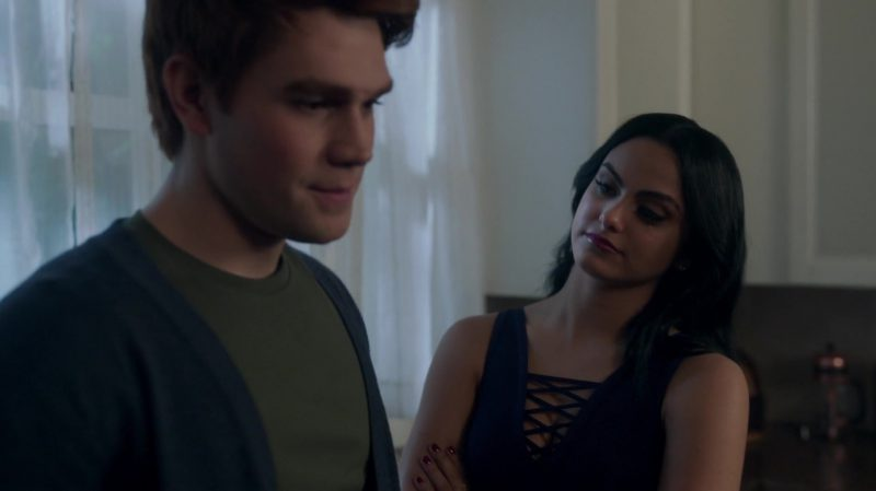 """Fashion Trends 2021: Blue Cropped Top Worn by Camila Mendes in """"Riverdale"""""""