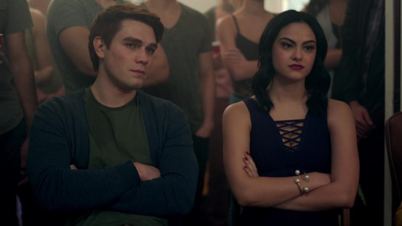 "Blue Cropped Top Worn by Camila Mendes in ""Riverdale"" TV Show - Female Fashion"