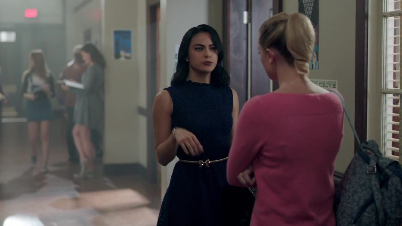 """Fashion Trends 2021: Blue Lace Dress Worn by Camila Mendes in """"Riverdale"""""""