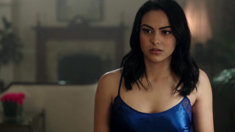"Blue Nightgown Worn by Camila Mendes in ""Riverdale"" - TV Show Outfits and Products"