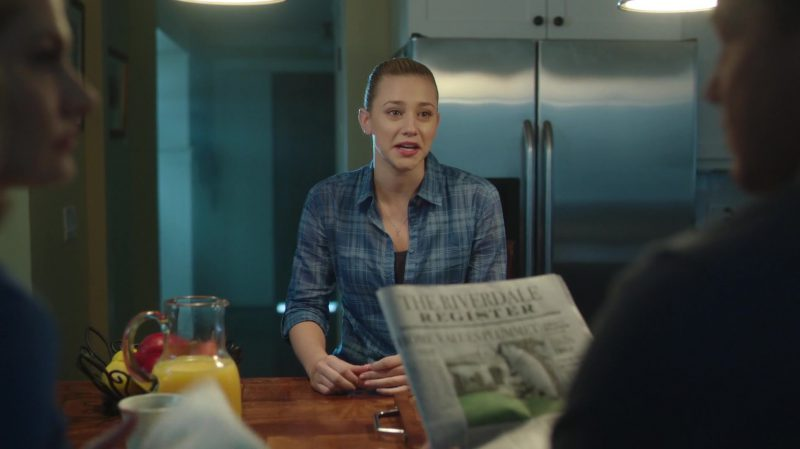 "Blue Plaid Shirt Worn by Lili Reinhart in ""Riverdale"" TV Show"