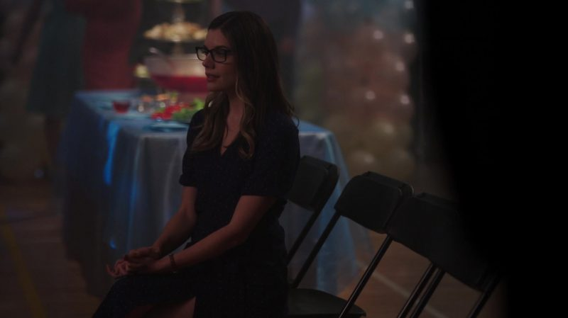 """Blue Polka Dot Dress Worn by Sarah Habel in """"Riverdale"""" - TV Show Outfits and Products"""