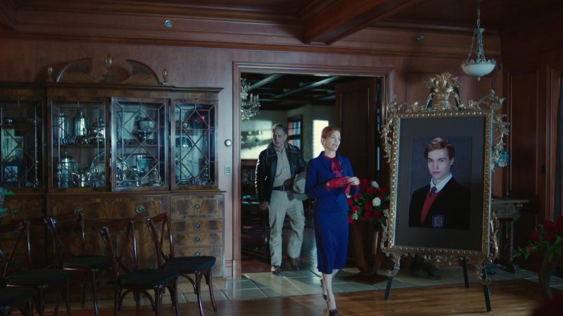 """Blue Skirt Suit Worn by Nathalie Boltt in """"Riverdale"""" TV Show - Female Celebrity Style"""