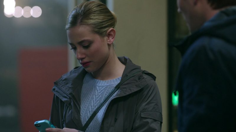 """Blue Sweater and Jacket Worn by Lili Reinhart in """"Riverdale"""" TV Show"""