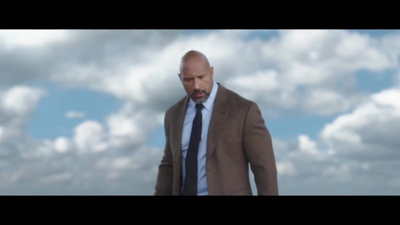 "Brown Jacket Worn by Dwayne Johnson (The Rock) in ""Skyscraper"" Movie"
