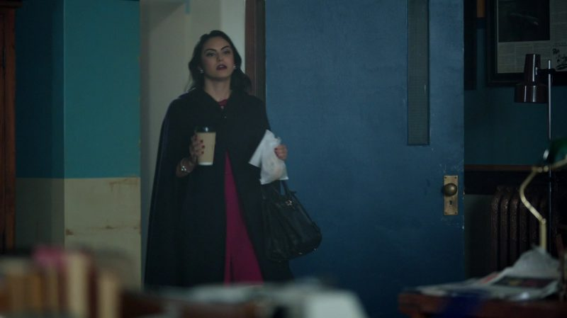 """Fashion Trends 2021: Cape Coat and Purple Dress Worn by Camila Mendes in """"Riverdale"""""""