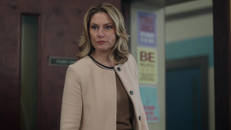 "Collarless Coat Worn by Mädchen Amick in ""Riverdale"" TV Show"