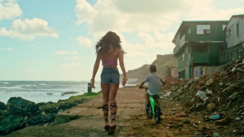 "Crop Top, Denim Shorts and Gladiator Sandals Worn by Zuleyka Rivera in ""Despacito"" Music Video by Luis Fonsi ft. Daddy Yankee"