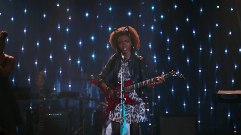 """Fashion Trends 2021: Cropped Leather Jacket and Leopard Dress Worn by Ashleigh Murray in """"Riverdale"""""""