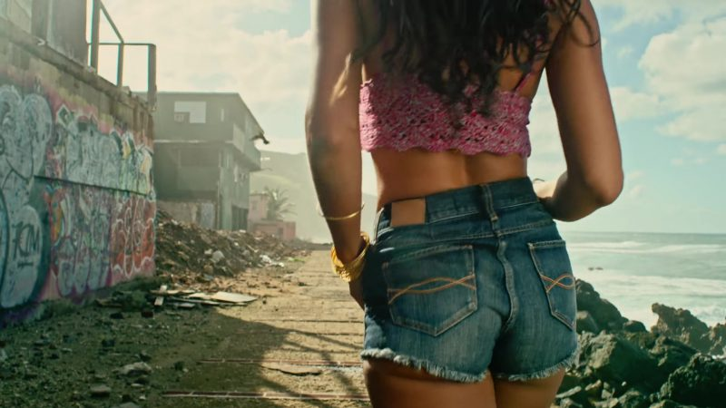"Cropped Top and Cutoff Shorts Worn by Zuleyka Rivera (Model) in ""Despacito"" Music Video by Luis Fonsi ft. Daddy Yankee - Female Fashion Outfits and Products"