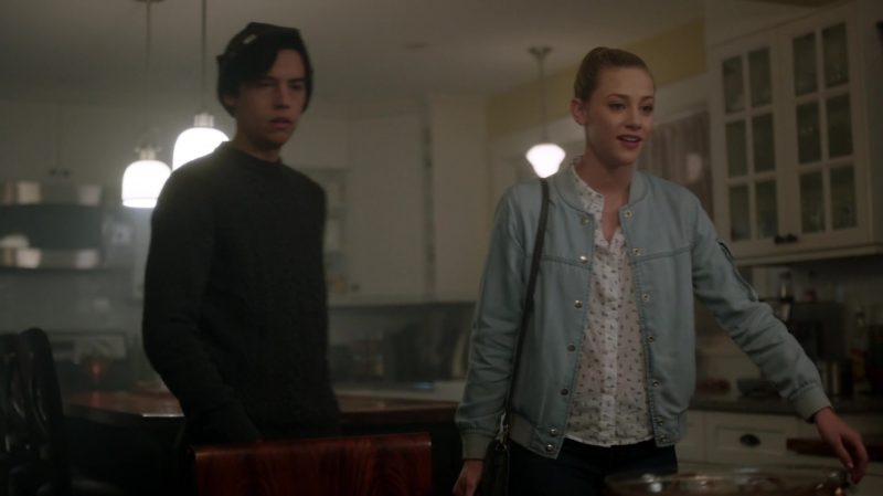"Denim Bomber Jacket Worn by Lili Reinhart in ""Riverdale"" TV Show"