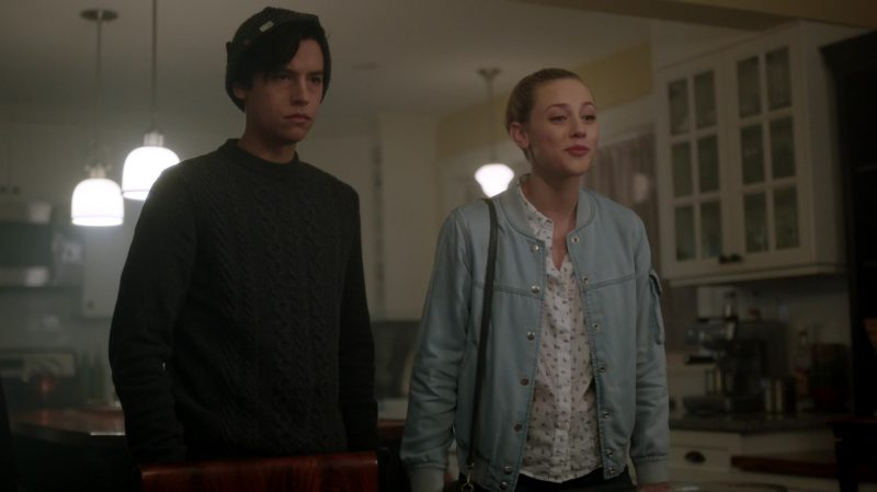 """Denim Bomber Jacket Worn by Lili Reinhart in """"Riverdale"""" - TV Show Outfits and Products"""