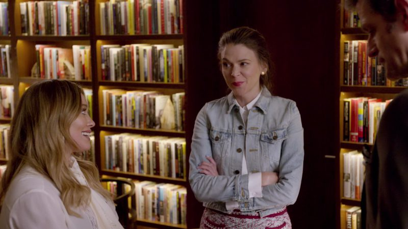 "Denim Jacket and White Shirt Worn by Sutton Foster in ""Younger"" - TV Show Outfits and Products"