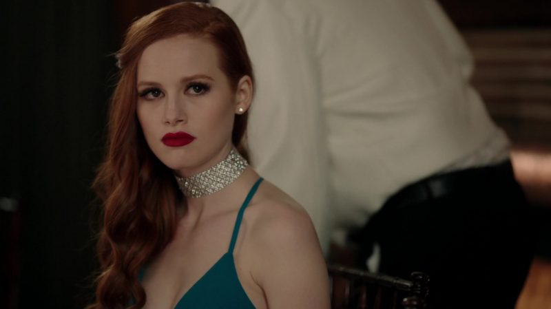 "Diamond Choker Necklace Worn by Madelaine Petsch in ""Riverdale"" TV Show"