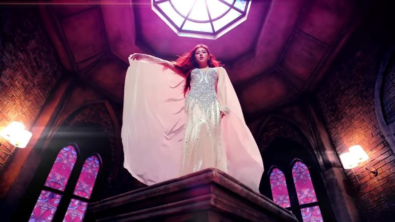 "Embellished Evening Long Dress in ""DDU-DU DDU-DU"" K-Pop Music Video by BlackPink"