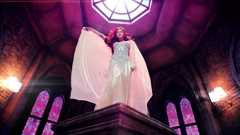 "Embellished Evening Long Dress in ""DDU-DU DDU-DU"" K-Pop Music Video by BlackPink - Female Fashion Outfits and Products"