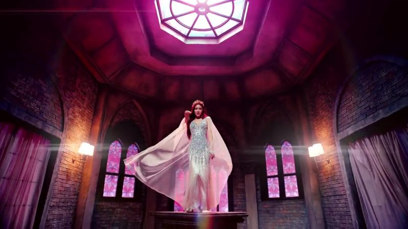 "Embellished Evening Long Dress in ""DDU-DU DDU-DU"" K-Pop Music Video by BlackPink - Female Fashion"