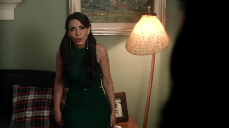 "Evening Green Long Dress Worn by Marisol Nichols in ""Riverdale"" - TV Show Outfits and Products"