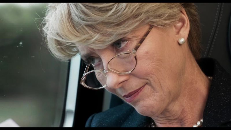 """Fashion Trends 2021: Eyeglasses and Pearl Earrings Worn by Emma Thompson in """"The Children Act"""""""