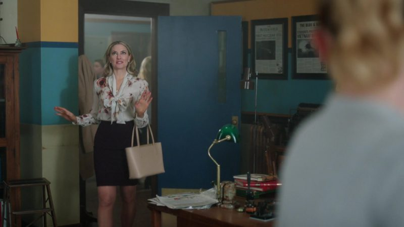 "Floral Blouse and Pencil Skirt Worn by Mädchen Amick in ""Riverdale"" TV Show"