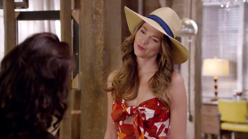 """Floral Dress and Hat Worn by Sutton Foster in """"Younger"""" TV Show"""