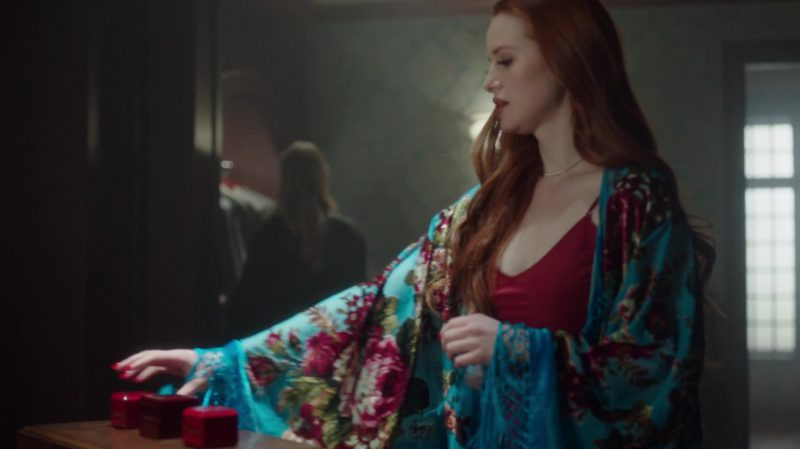 "Floral Robe Worn by Madelaine Petsch in ""Riverdale"" TV Show - Female Fashion Outfits and Products"