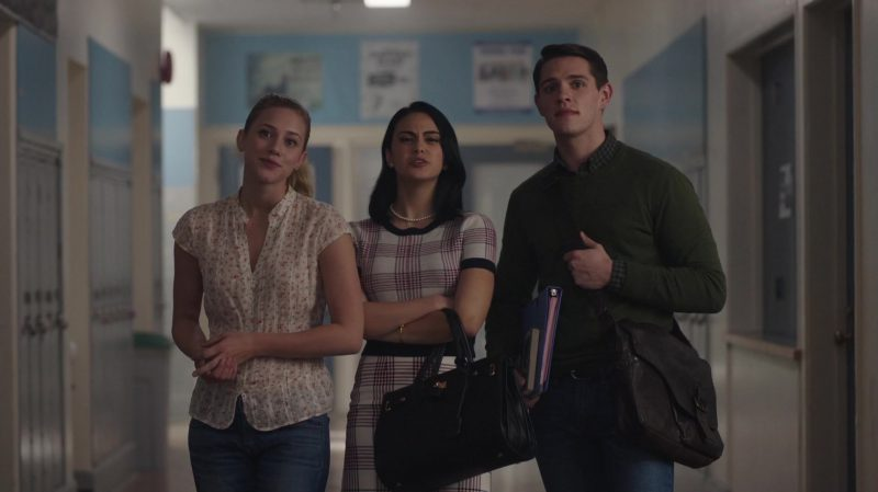 "Floral Short Sleeve Shirt Worn by Lili Reinhart in ""Riverdale"" TV Show"