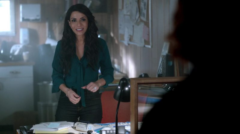 """Green Blouse Worn by Marisol Nichols in """"Riverdale"""" - TV Show Outfits and Products"""