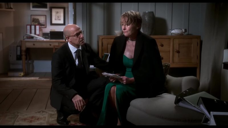 """Female  Celebrity Style:  Green Dress Worn by Emma Thompson in """"The Children Act"""" Movie"""
