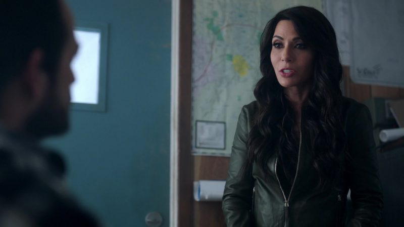 """Green Leather Jacket Worn by Marisol Nichols in """"Riverdale"""" TV Show"""