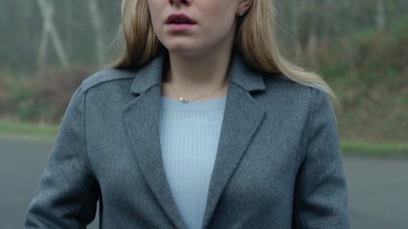 "Grey Coat Worn by Tiera Skovbye in ""Riverdale"" TV Show"