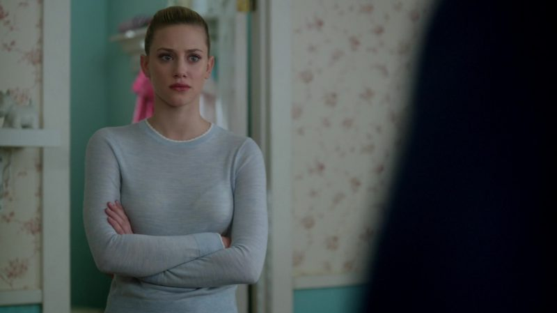 "Grey Jumper Worn by Lili Reinhart in ""Riverdale"" TV Show"