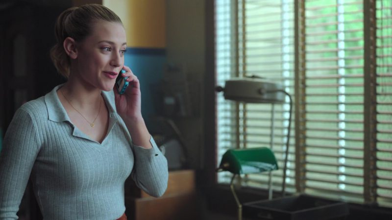 "Grey Top With Collar Worn by Lili Reinhart in ""Riverdale"" TV Show - Female Fashion Outfits and Products"