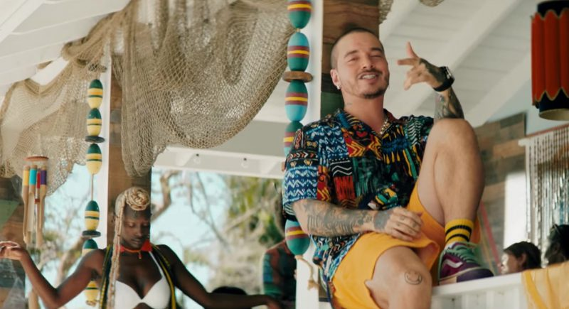 "Hawaiian Shirt, Yellow Shorts and Vans Sneakers Worn by J. Balvin in ""Ambiente"" Official Music Video - Male Fashion Outfits and Products"