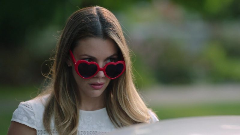 "Heart Shape Sunglasses Worn by Sarah Habel in ""Riverdale"" TV Show"