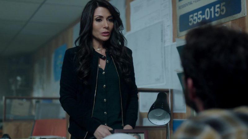"""Jacket and Green Shirt Worn by Marisol Nichols in """"Riverdale"""" TV Show - Female Celebrity Style"""