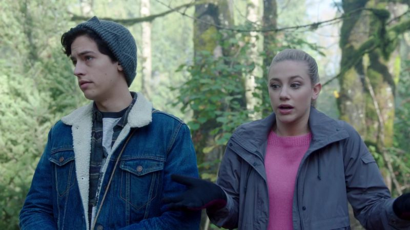 """Fashion Trends 2021: Jacket and Pink Sweater Worn by Lili Reinhart in """"Riverdale"""""""