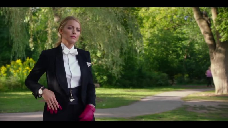 "Jacket and White Shirt Worn by Blake Lively in ""A Simple Favor"" Movie"