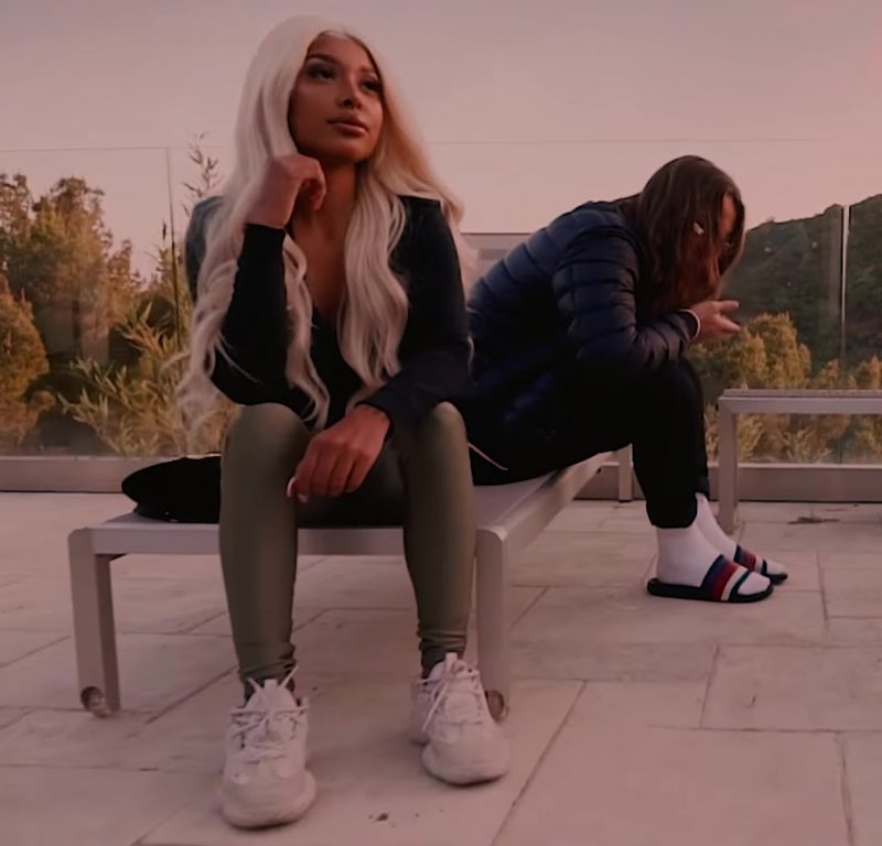 "Leggings and White Sneakers Worn by Model in ""I Know You"" by Lil Skies and Yung Pinch Music Video"