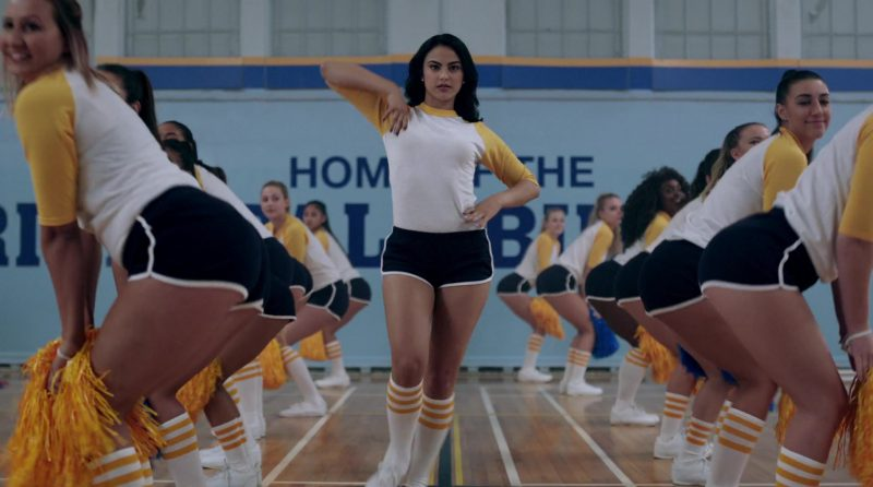 """Long Sleeve T-Shirt And Black Shorts Worn by Camila Mendes in """"Riverdale"""" TV Show"""