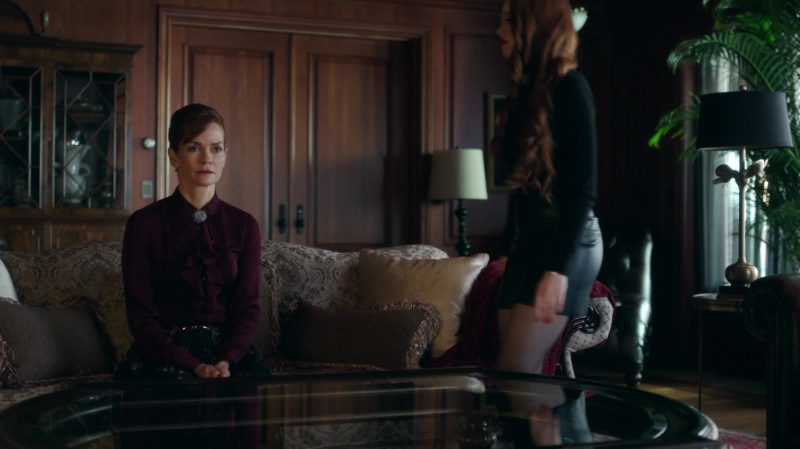 "Long Sleeve Turtleneck and Leather Mini Skirt Worn by Madelaine Petsch in ""Riverdale"" TV Show"