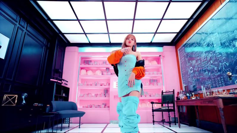 "Mini Dress and Over-the-Knee Boots in ""DDU-DU DDU-DU"" K-Pop Music Video by BlackPink - Female Fashion Outfits and Products"