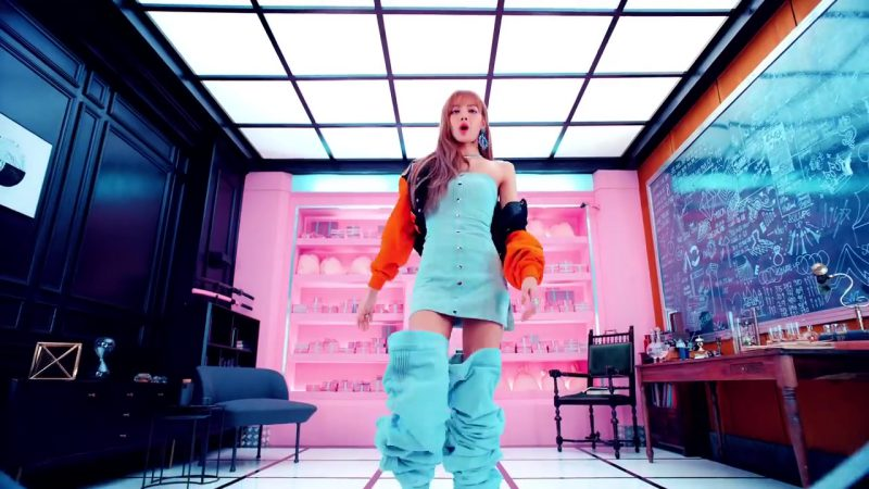"""Mini Dress and Over-the-Knee Boots in """"DDU-DU DDU-DU"""" K-Pop Music Video by BlackPink - Youtube Outfits and Products"""