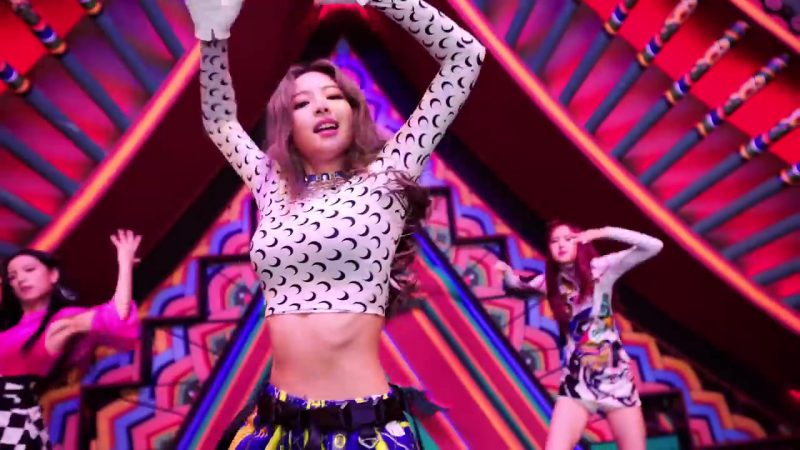 "Moon Print Cropped Long Sleeve Top in ""DDU-DU DDU-DU"" K-Pop Music Video by BlackPink"