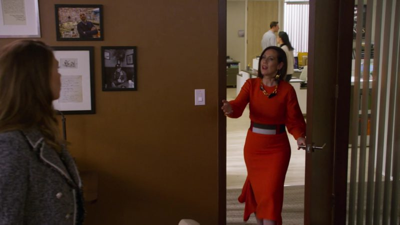 "Orange Dress Worn by Miriam Shor in ""Younger"" TV Show"