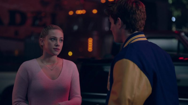 """Pastel Pink Sweater Worn by Lili Reinhart in """"Riverdale"""" - TV Show Outfits and Products"""